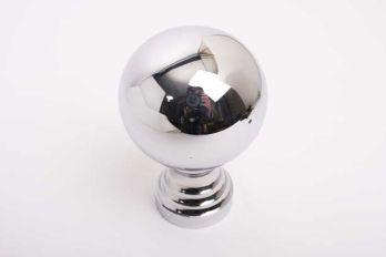 Grote bol rond 80mm met voet blinkend chroom
