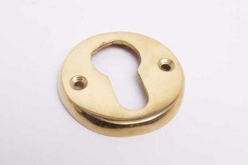 Ronde cilinderrozet voor profiel cilindersloten messing polijst