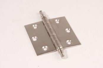 Scharnier geborsteld nikkel 76x76mm met vaaskop