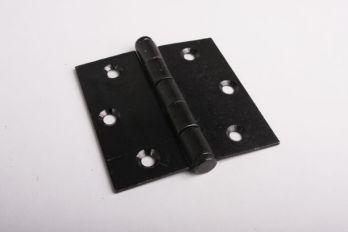 Scharnier zwart met platkop 75x76mm