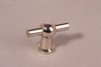 Knop blinkend nikkel 45mm kraanknop