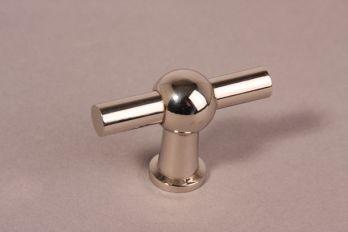 Knop blinkend nikkel 55mm kraanknop