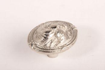 Knop klassiek ovaal nikkel 47mm