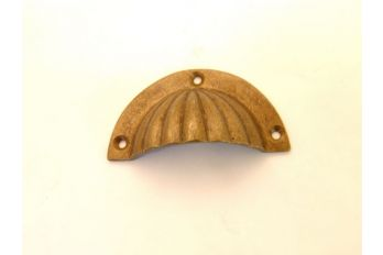 Komgreep brons antiek 65, 82, 92mm ribbel (ook tin en roest)