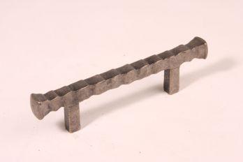 Greep antiek zilver 96mm brut