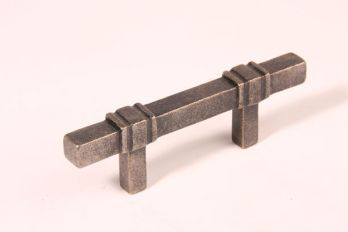 Greep antiek zilver 64mm