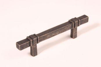 Greep antiek zilver 96mm