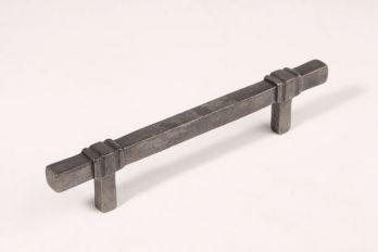 Greep antiek zilver 128mm