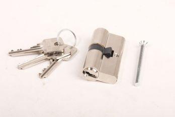 Profiel-Cilinderslot 30/30 SKG** nikkel met 3 sleutels