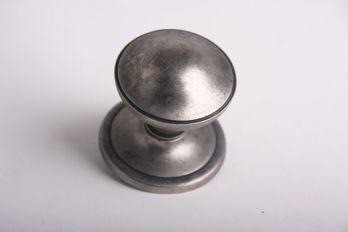 Deurknop zilver antiek 81mm