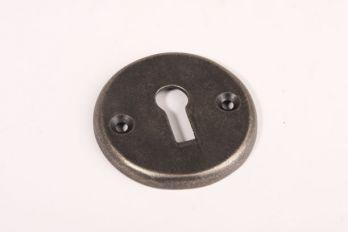 Rozet met sleutelgat zilver antiek 50mm