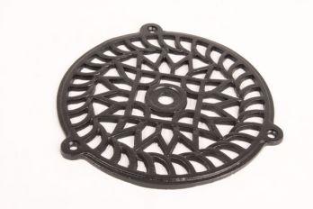 Rooster zwart gietijzer rond 160mm