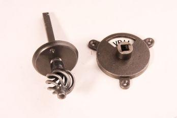 WC Sluiting met draadknop roest of tinkleur zwar/wit vrij/bezet