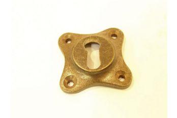 Sleutelrozet 37mm brons antiek