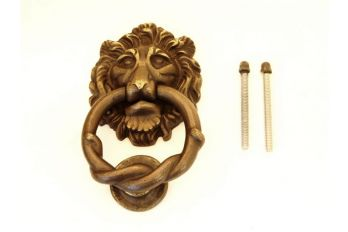 Deurklopper brons antiek Leeuwenkop 150mm
