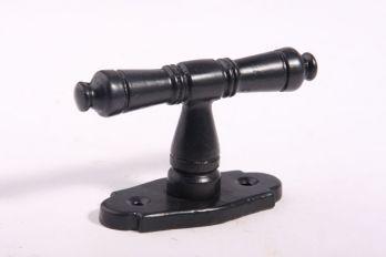 Raamkruk 92mm zwart 7mm