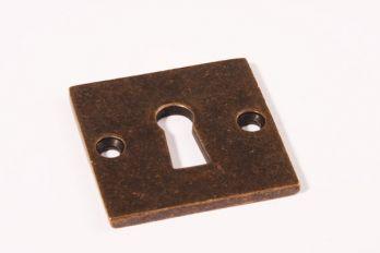 Sleutelrozet Bauhaus brons antiek vierkant 50mm
