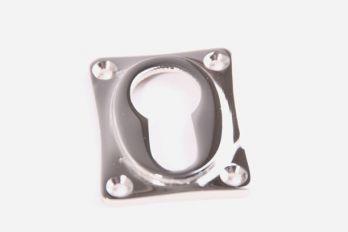 Rozet 38 mm voor cilinderslot ton-model Blinkend nikkel.