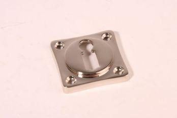 Sleutelrozet 38 mm met sleutelgat Blinkend nikkel