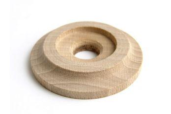 Rozet beuken voor houten deurknoppen rond 60mm