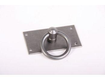 Ringgreep tinkleur 36mm met rechthoekige achterplaat 64x35mm