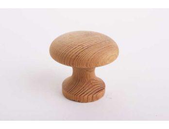 Houten meubelknop grenen rond 44mm voor deurtjes en lades