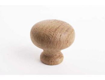 Knop eikenhout voor meubel of keuken rond 38mm