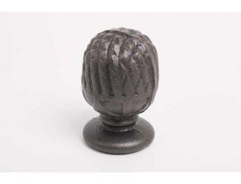 Paalkop dennenappel gietijzer grijs groot 175mm opschroefbaar