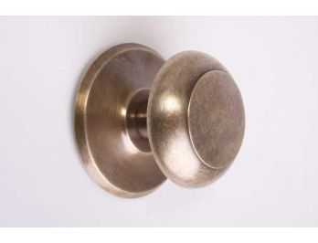 Deurknop rond brons antiek 64mm voordeur
