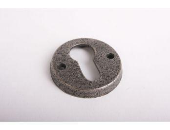 Cilinderrozet rond 50mm antiek grijs voor profiel cilinderslot