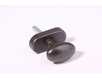Landelijke raamkruk ovale knop gietijzer roest voor draai-kiep raam 51mm