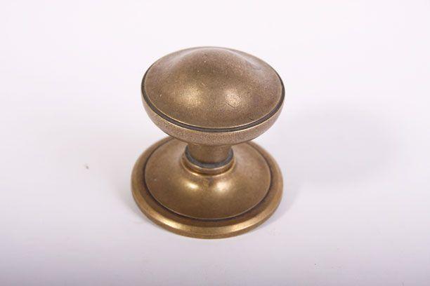 Deurknop Brons Antiek.Deurknop Voordeur Brons Antiek Roest Of Zwart 73mm
