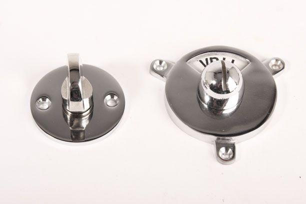 Toilet Vrij Bezet : Wc sluiting vrij bezet kramer ronde rozet blinkend chroom