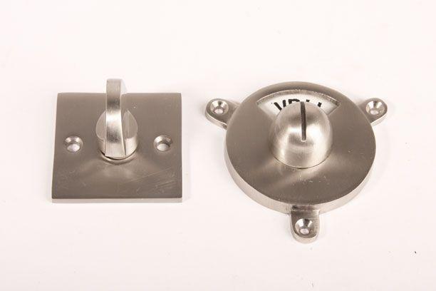 Toilet Vrij Bezet : Wc sluiting vrij bezet bauhaus vierkante rozet geborsteld nikkel
