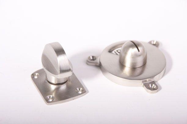 Toilet Vrij Bezet : Wc sluiting vrij bezet zwart wit geborsteld nikkel platte knop