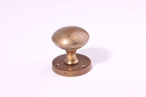 Deurknop Brons Antiek.Deurknop Paar Brons Antiek Binnendeur 54mm