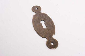 Sleutelplaat brons antiek voor meubeldeurtje of keukendeurtje 31mm breed