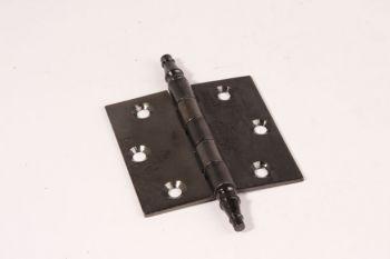 Scharnier zwart 75x76mm met vaaskop 3 duims gemaakt van ijzer