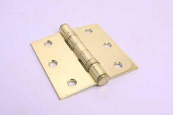 Scharnier voor binnendeuren ijzer messing met kogellager 76mm platkop
