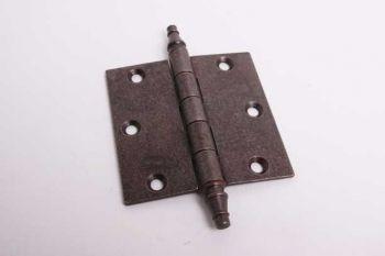 Scharnier voor stompe binnendeur in roest 89mm met vaaskop