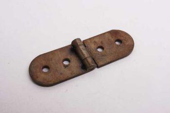 Scharnier brons antiek opschroef 63mm x 20mm massief messing