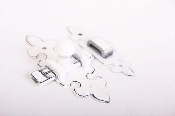 Schuif klassiek antiek wit 105mm met aanslagbeugeltje