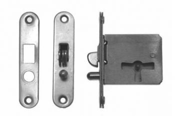 Insteek slot voor roldeur, schuifdeur of deksel 25mm links of rechts