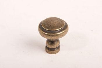 Klassieke knop voor meubel en keuken brons antiek rond 29mm