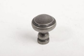 Klassieke meubelknop en keukenknop zilver antiek rond 29mm