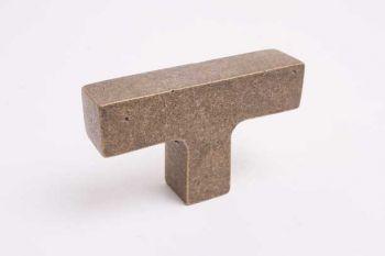 Industriële knop vierkant brons antiek 67mm T-knop voor binnen en buiten