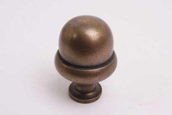 Bolknop klassiek rond 45mm brons antiek