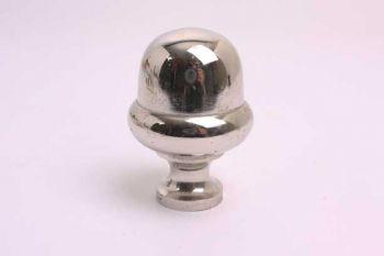 Bolknop rond 45mm blinkend nikkel