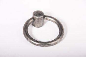 Ringgreep antiek grijs 63mm diameter 8mm dik