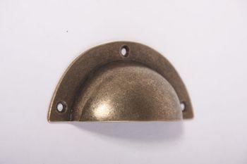 Komgreep - klassieke greep brons antiek 93mm